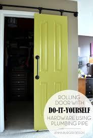 Rolling Door Designs Diy Rolling Door Hardware Using Plumbing Pipe Jenna Burger