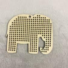 20pcs elephant cross stitch pendant blank wood needlecraft pendant cross stitch blank elephant wood diy crafts