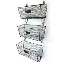 wall mount rack tier 3x fruit basket