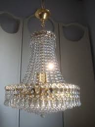 beautiful large vintage lead crystal empire chandelier 1 of 2