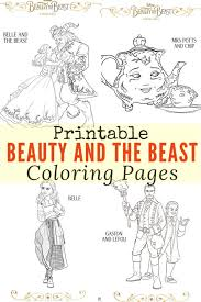 Small Picture Printable Beauty and the Beast Coloring Pages Craft Disney
