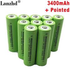 Mới 18650 3.7 V 3400 mAh Pin Sạc Lithium INR18650 với Chỉ Dùng Cho đèn pin  pin 18650 lý ion 3.7 V (1 10 chiếc) Rechargeable Batteries