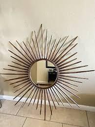 pier one metal sunburst sun rays mirror