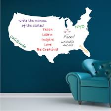 united states map dry erase wall decal