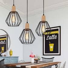 wood pendant light modern ceiling lights bar lamp kitchen black pendant lighting