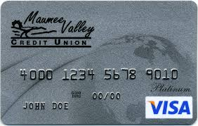 visa platinum visa card with maumee valley credit