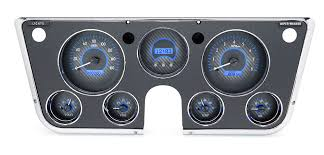 1967 72 chevy pickup vhx instruments carbon fiber background blue lighting