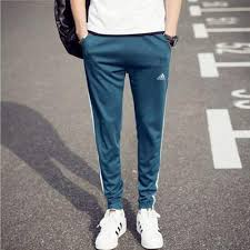 Buy <b>spring and autumn men's</b> beam foot striped sports pants fashion ...