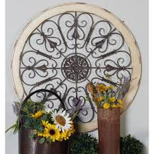 scrollwork medallion framed wooden wall art