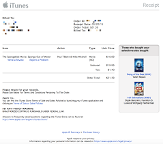apple refreshes itunes receipts a new design purchased from itunes receipt here is the refreshed invoice format applereceipt