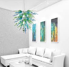 Fein Villa Lampe Neue Mundgeblasenem Glas Kronleuchter Grün Murano Kristall Pendelleuchten Für Wohnkultur Deckenleuchte