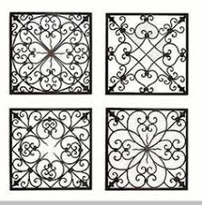 square metal wall decor on silver metal scroll wall art with victorian wrought iron trompe l oeil stencil wall stenciling