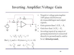 10 inverting amplifier voltage gain