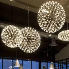 pendant lighting globes. Globe Lighting Fixture. Modern Pendant Lamp Led Firework Ball Lights Silver Table Hanging Lamps Globes