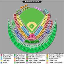 Complete Kauffman Stadium Suite Map Kansas City Royals
