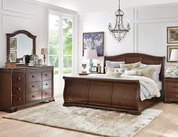 Dark Sleigh Bed A King Size Bed King Size Fabric Bed Cherry Sleigh ...