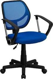 blue school chair. Mid-Back Blue Mesh Task Chair And Computer With Arms Home Office School