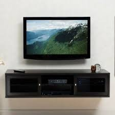 ... Wall Mounted Entertainment Shelves Bead Board Dvd Rack Wall Mounted Tv  Console Storage Cabinet Stand Black ...