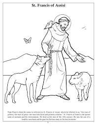 St Francis Of Assisi Coloring Page Free Coloring Pages On Art