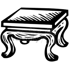 coffee table clipart black and white. royalty-free black white coffee table 382938 vector clip art image - eps, svg, pdf illustration | graphicsfactory.com clipart and