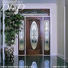 custom estate oval leaded glass door
