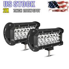 Cree Vs Led Light Bar 1 Pair 7 Inch 288w Pods Led Work Light Bar Driving Spot Beam