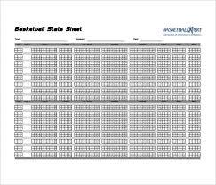 Basketball Stats Excel Template Basketball Stat Sheet Template Excel Under Fontanacountryinn Com