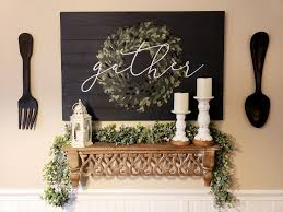 wall decor farmhouse kitchen decor