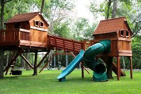 outdoor bridge spiral slide fun s cabins ticonderoga trackline tire