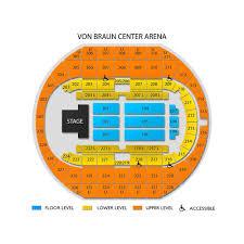 Von Braun Center Arena Seating Chart Prototypic Vbc Seating Chart Von Braun Seating Chart