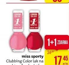 Lak Na Nehty Clubbing Color Miss Sporty V Akci Teta Drogerie Od 217