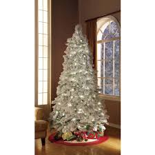 Holiday Time Artificial Christmas Trees Pre-Lit 7.5' Flocked ...