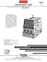 Lincoln Electric 500 Welder User Manual Manualzz Com
