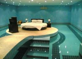 Circular Bed Bedroom Ideas Black And Blue Swimming Pool Past Air Conditioner