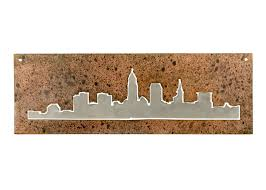 cleveland skyline cleveland metal wall art housewarming gift made in ohio cleveland birthday gift on cleveland metal wall art with cleveland skyline cleveland metal wall art housewarming gift