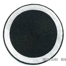 black slate table mats and coasters round leather home decoration coaster new classic beaded kitchen placemats
