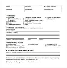 free employee warning forms free employee write up form printable excel template