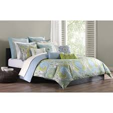 echo design sardinia green blue cotton duvet cover mini set