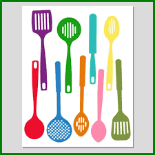 colorful kitchen utensils. Kitchen Colorful Utensils The Best Spatula Collection Silhouette Print Of Trend And L