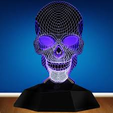 Solar Skeleton Lights Skeleton Lighting Art Geometric Skull 3d Line Lamp Unique Light Decoration Creative Led Night Light Buy 3d Lamp Skull Lamp Light Decoration Product