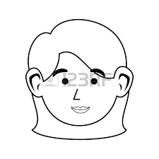 かわいい女性の顔のアイコン ベクトル イラスト グラフィック デザインの
