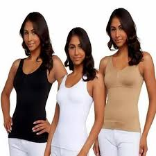 Cami Shaper Tank Top Seamless Slimming Camisole Spandex Plus
