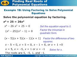 solving polynomial equations factoring example 1b 3a using solve snapshot divine