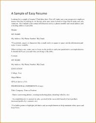 Basic Sample Resume Sample Of Basic Resume Fungramco 91