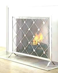 single panel fireplace screen gold beautiful pilgrim screens