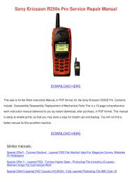 Sony Ericsson R250s Pro Service Repair ...
