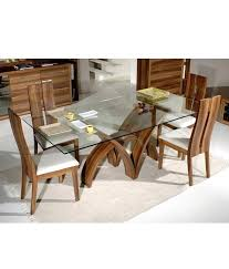 glass top dining table set 6 chairs rectangular glass dining table glass top dining table with
