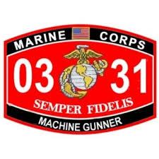 Usmc 0331 0331 Machine Gunner Patch