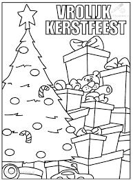 Kleurplaat Kerst Kerstbomen Kleurplaat Kerstboom Met Pakjes