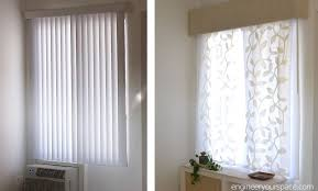 vertical blinds and curtains.  Blinds Picture Of Vertical Blinds Hack To Hang Curtains To And